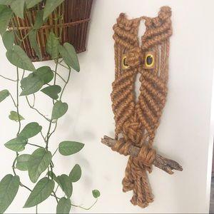 Vintage Owl Macrame Wall Decor Boho Decor